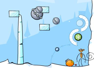 ������� � ���� ���� Monkey snowfigh online